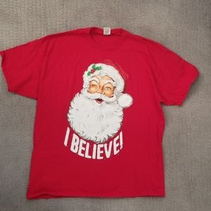 Red Santa shirt. Size 2XL. Christmas season tee.